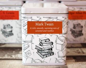 Mark Twain Inspired Tea - Author - Literary Tea Collection - Tea Gift - Literary Tea Gift - Bookish Gift - Author Gift - Tea