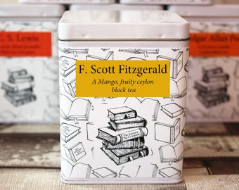 F. Scott Fitzgerald Inspired Tea - Author - Literary Gift - Tea Gift - Bookish Gift - Authors Gift - Great Gatsby