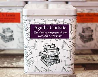 Agatha Christie Inspired Tea - Author - Literary Tea Collection - Tea Gift - Literary Tea Gift - Bookish Gift - Author Gift - Tea