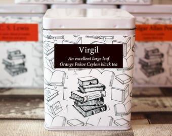 Virgil Inspired Tea - Literary Tea Collection - Tea Gift - Literary Tea Gift -Bookish Gift- Author Gift- Loose Leaf Tea - Tea