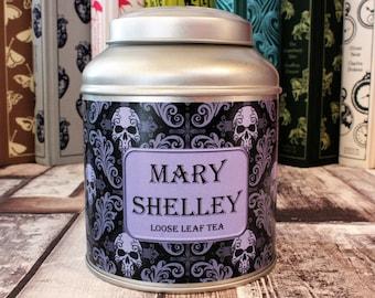 Mary Shelley Tea Caddy Gift - Literary Tea Collection - Tea Gift - Literary Gift - Bookish Gift - Author Gift- Loose Leaf Tea - Tea