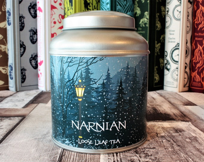 Featured listing image: Narnian Tea Caddy Gift - Narnia Inspired Gift - Tea Gift - Literary Gift - Bookish Gift - Author Gift - Tea - C. S. Lewis