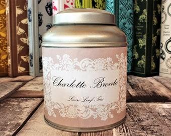 Charlotte Bronte Tea Caddy Gift - Literary Tea Collection - Tea Gift - Literary Tea Gift - Bookish Gift - Author Gift- Loose Leaf Tea - Tea