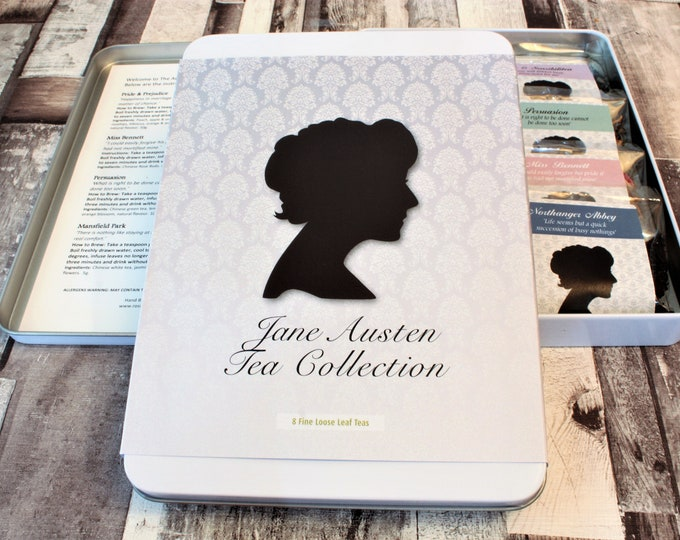 Featured listing image: Jane Austen Tea Collection - Literary Tea Collection - Tea Gift - Literary Tea Gift - Bookish Gift - Author Gift- Loose Leaf Tea - Tea