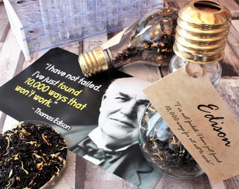 Thomas Edison Inspired Tea - Light Bulb Gift - Quirky Gift - Science Gift - Tea Gift - Loose Leaf Tea -Tea - Science -Edison - Thomas Edison