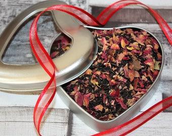 Love Heart Gift - Valentines - Chocolate Rose Tea - Tea Gift - Love Gift - Gift of Love - Loose Leaf Tea - Tea