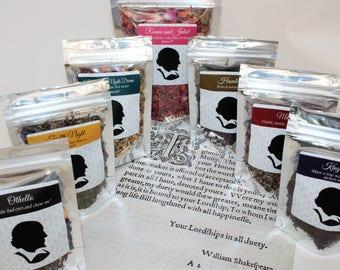 Shakespeare Tea Collection - Tea Gift - Literary Tea Gift - Bookish Gift - Author Gift
