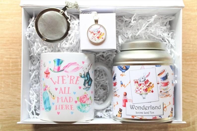 Wonderland Tea Gift Box  Literary Tea Gift  Bookish Gift image 1