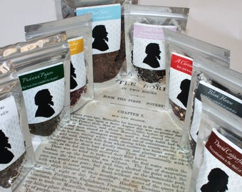 Charles Dickens Tea Collection - Tea Gift - Literary Tea Gift - Bookish Gift - Author Gift