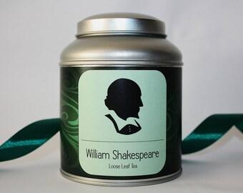 William Shakespeare Tea Gift - Literary Tea Collection - Tea Gift - Literary Tea Gift - Bookish Gift - Author Gift- Loose Leaf Tea - Tea
