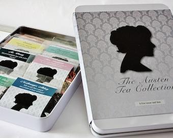 Jane Austen Tea Collection - Literary Tea Collection - Tea Gift - Literary Tea Gift - Bookish Gift - Author Gift- Loose Leaf Tea - Tea