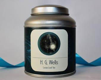 H.G. Wells Inspired Tea Gift - Literary Tea Collection - Tea Gift - Literary Tea Gift - Bookish Gift - Author Gift- Loose Leaf Tea - Tea