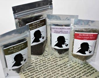 Sherlock Tea Collection - Literary Tea Collection - Tea Gift - Literary Tea Gift - Bookish Gift - Author Gift- Loose Leaf Tea - Tea