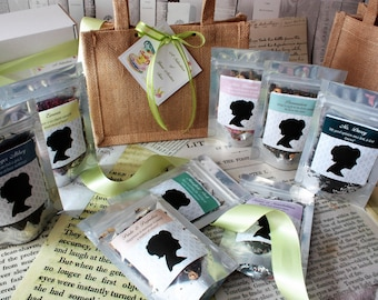 A Gift Bag of Jane Austen Teas - Literary Tea Collection - Tea Gift - Literary Tea Gift - Bookish Gift - Author Gift- Loose Leaf Tea