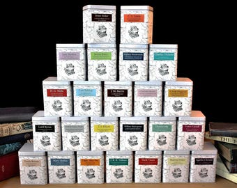 Literary Teas - Authors Gift - Tea Gift - Tea - Bookish Gift - Literary Gift - Tea Gift