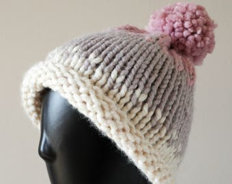 Chunky Knit Ombre Hat