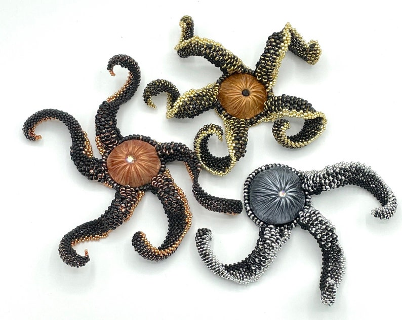 NEW Silver color Octopus' Garden Necklace is a 3D beaded image 0