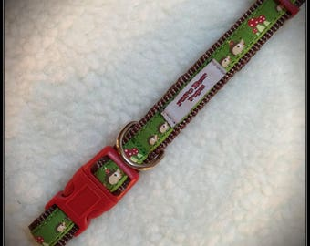 Small Happy Hedgehog dog collar