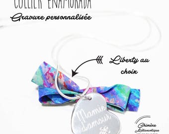 Necklace / Sautoir ENAMORADA Liberty - custom engraving