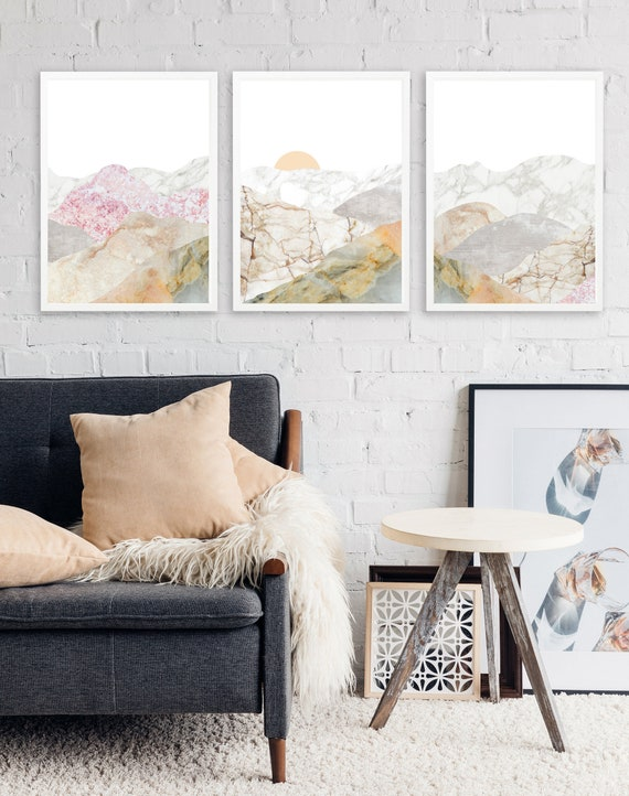 10 Save Mountain 3 Piece Wall Art Large Framed Wall Art Set Etsy