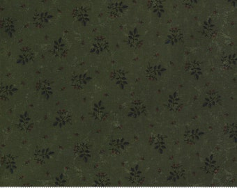 Prairie Dreams - Kansas Trouble - Leaves Berries - Green - 9653-15 - Fabric is sold in 1/2 yard increments and cut continuously