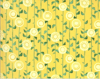 Solana - Robin Pickens - Stalks - Buttercup - 48683-13 - Fabric is sold in 1/2 yard increments and cut continuously