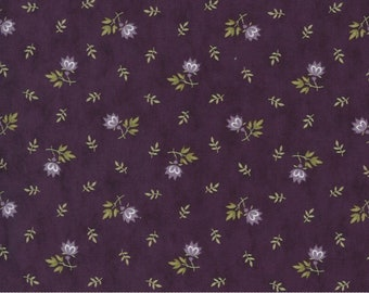 Mill Creek Garden - Jan Patek - Flowers - Purple - 2244-12 - Fabric is sold in 1/2 yard increments and cut continuously