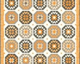 "Pumpkins & Blossoms  Quilt Kit - Harvest Moon - Fig Tree - KIT20420 - 72"" x 72"""
