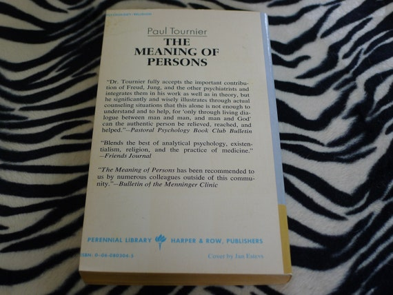 The Missing Persons PAUL TOURNIER 1973 paperback
