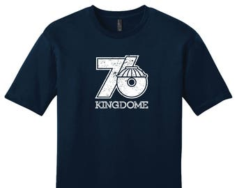 The Kingdome 76 Tee Shirt - Past Home of Your Seattle Seahawks & Mariners
