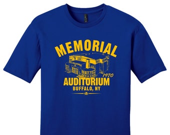 Memorial Auditorium 1970 Hockey Tee Shirt - Past Home of Your Buffalo Sabres
