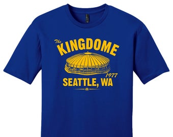 The Kingdome 1977 Baseball Tee Shirt - Past Home of Your Seattle Mariners