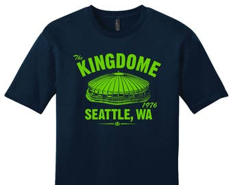 The Kingdome 1976 Football Tee Shirt - Past Home of Your Seattle Seahawks