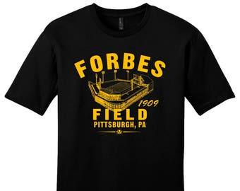 Forbes Field 1909 Football Tee Shirt - Past Home of Your Pittsburgh Steelers