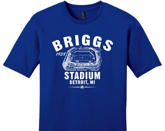 Briggs Stadium 1938 Football Tee Shirt - Past Home of Your Detroit Lions