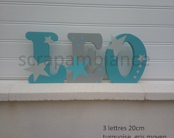 name wood first ask, letter to place large letter, letter decorative theme star