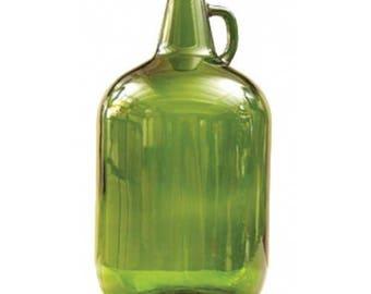 1 Gallon Green Glass Carboy Jug Bottles Wine Making Brewing Supplies