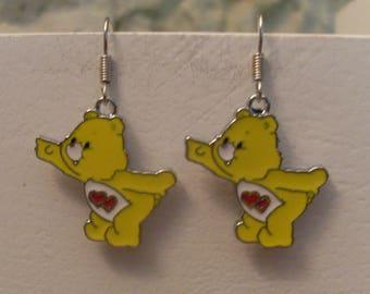 Earrings huggable teddy bear