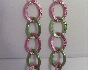 Earrings colorful large links