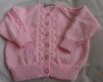 Hand knitted baby cardigan 0-6 months