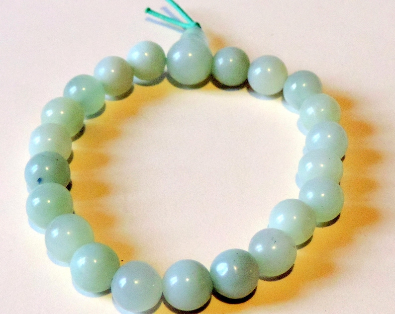 Natural jade mala bracelet