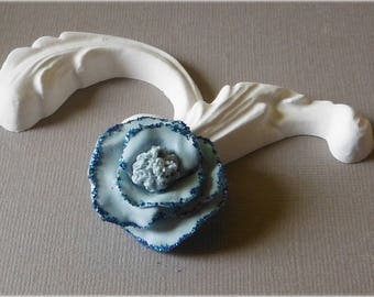 Little flower in light blue cold porcelain No. 3