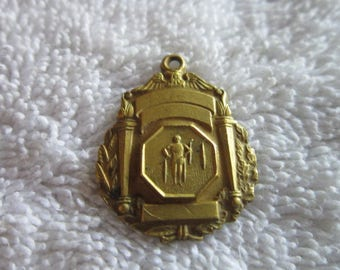 1955 Bronze Gymnastics Medal Necklace Pendant or Charm