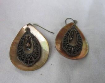 Retro Modern 3 Part Dangle Pierced Earrings