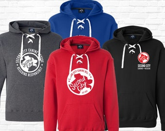 Sport Lace Premium Hoodie | Heavy Weight --> SCCR Logo | 3 Designs | 4 Hoodie Colors