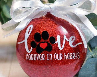 Dog Memorial Ornament | Personalized | Forever in Our Hearts