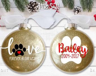 """Dog Memorial Ornament, 4"""" Disc Ornament"""
