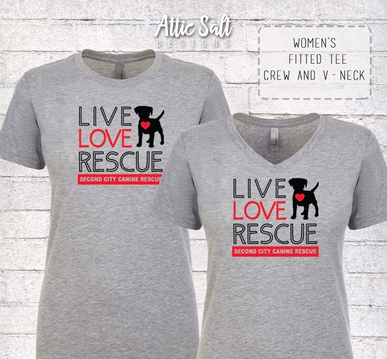 Live Love Rescue Tee  Various Styles image 0