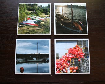 Tile Coasters - Boats