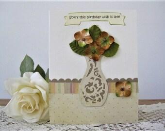 Verspatete Geburtstagskarte Spaten Geburtstag Verpassten Etsy